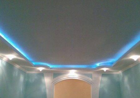 Потолок с подсветкой: как сделать его своими руками