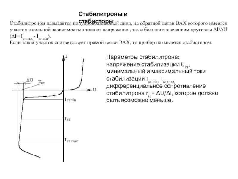 Как работает стабилитрон