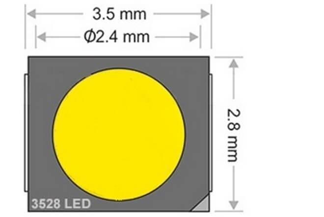 Светодиод smd 2835 - характеристики, сравнение и отличие от 5050, 3528