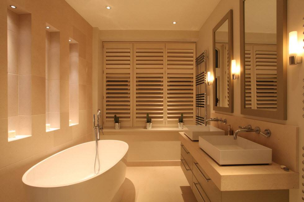 Светильники в ванную комнату на потолок: какие лучше, сколько нужно и как расположить