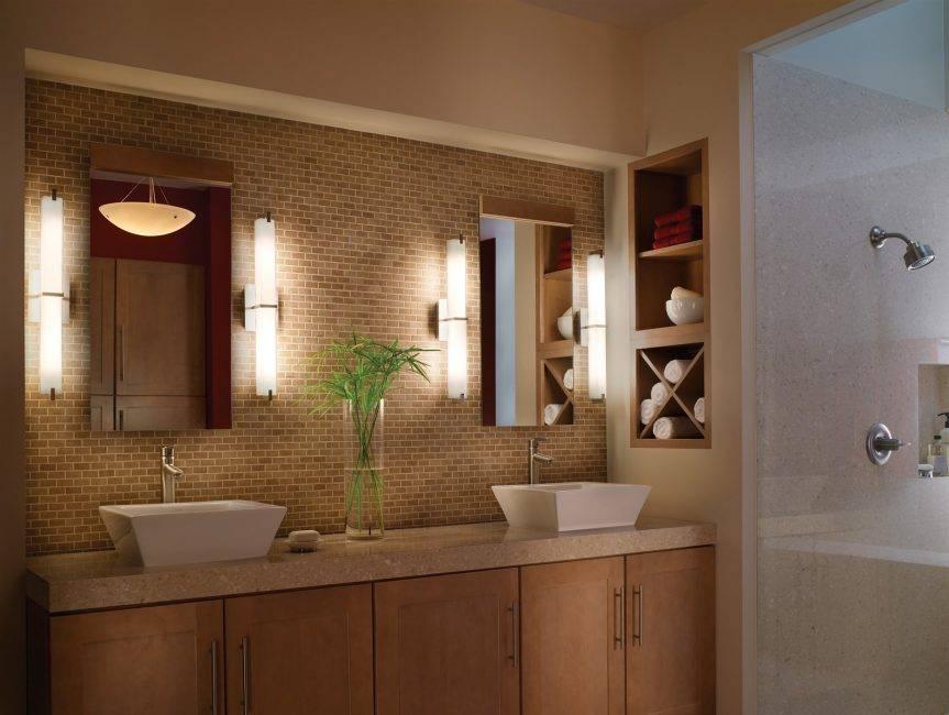 Выбор оптимального освещения для ванной комнаты [дизайнерские идеи]