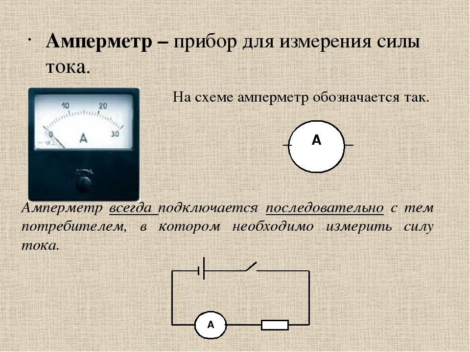 Измерение силы тока амперметром вид измерения