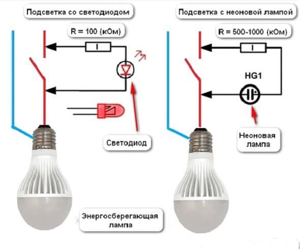Почему светодиодный прожектор светится в выключенном состоянии выключателя