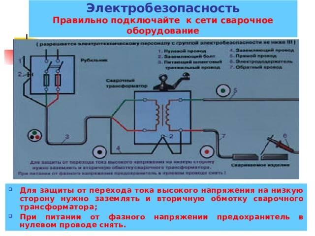 Монтаж заземления сварочных электроустановок.