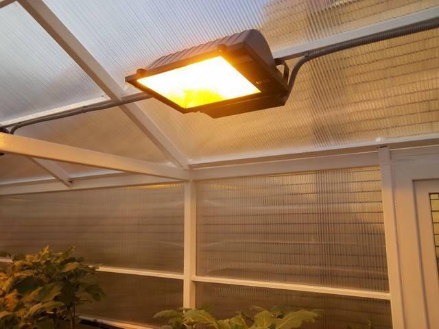 Какое освещение должно быть в теплице зимой: виды ламп, отзывы