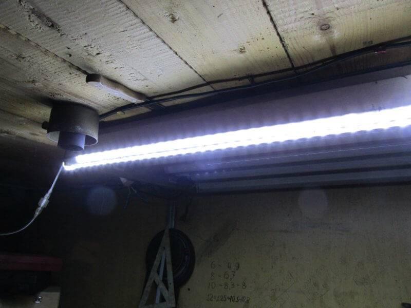 Светодиодное освещение в гараже своими руками