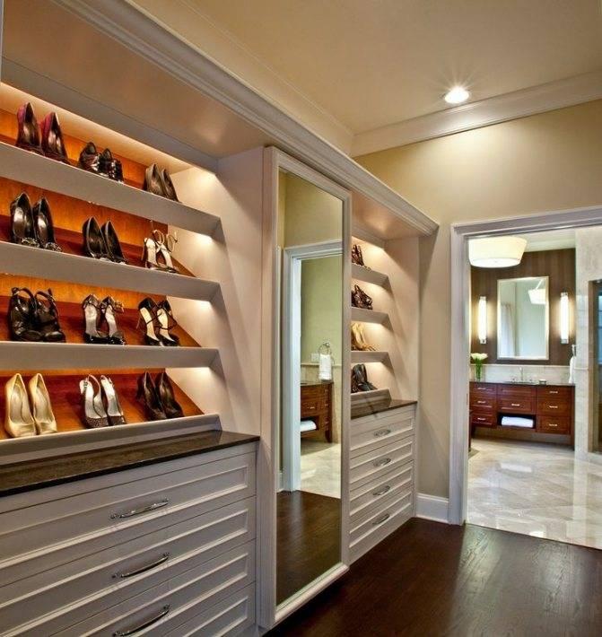 Дизайн гардеробной комнаты, нюансы стилистического оформления
