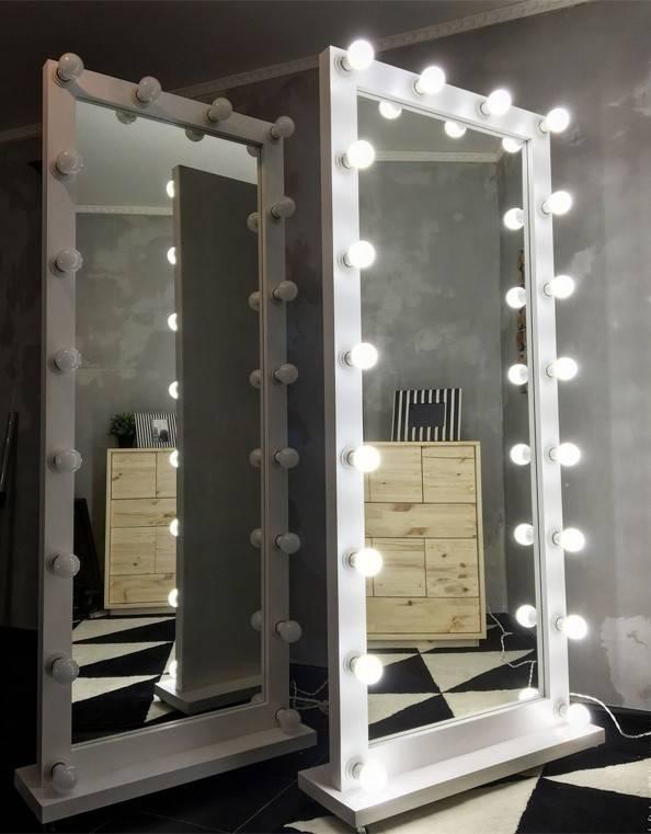 Изготовление стильных зеркал с подсветкой своими руками, этапы работы