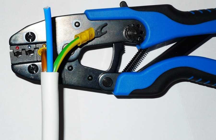 Обжимка для наконечников электрического кабеля, пресс клещи