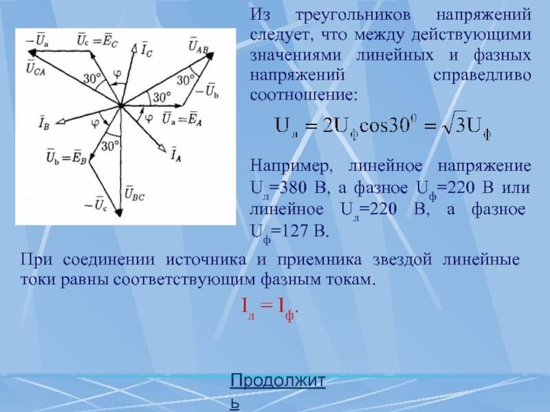 Фазное и линейное напряжение в трехфазных цепях: о чем нужно знать