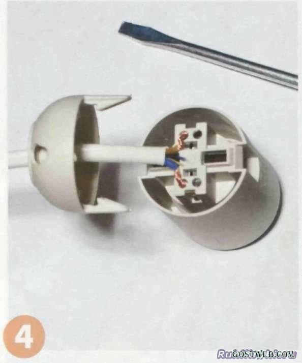 Как правильно подключить патрон для лампочки к проводам.