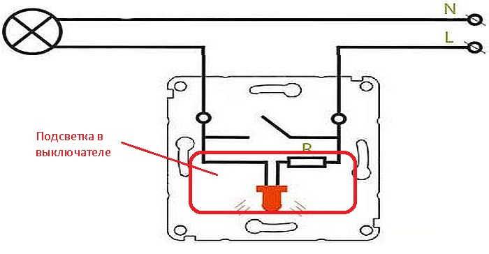 Подключение выключателя с подсветкой: схема, устройстово, особенности