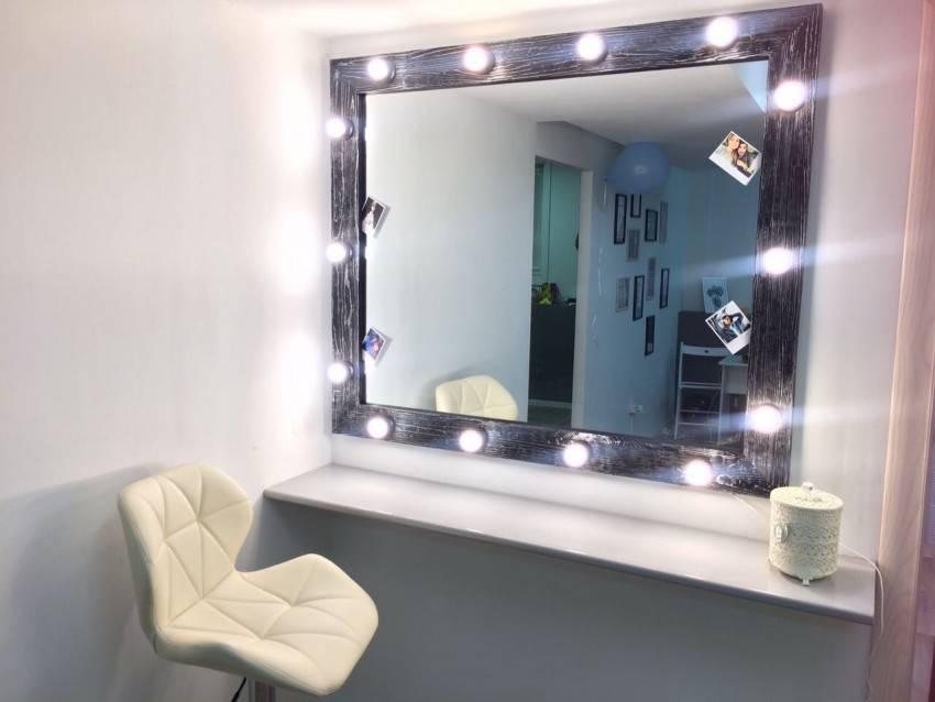 Гримерное зеркало: основные характеристики, установка и подключение (125 фото)