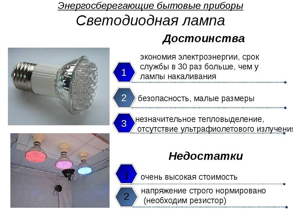 Светодиодные лампы: преимущества и недостатки. светодиоды: польза и вред для глаз
