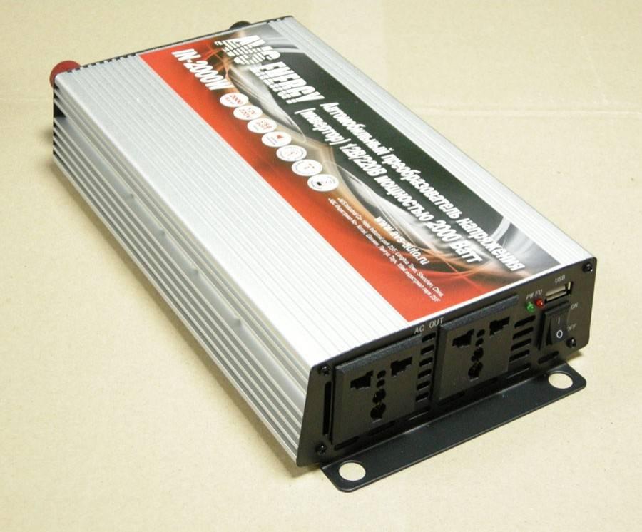 Инвертор 12 в 220 вольт, автомобильный преобразователь напряжения, работающий с переменным и постоянным током разной мощности, как выбрать
