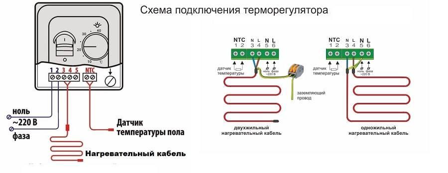 Как подключить терморегулятор к теплому полу и к обогревателю