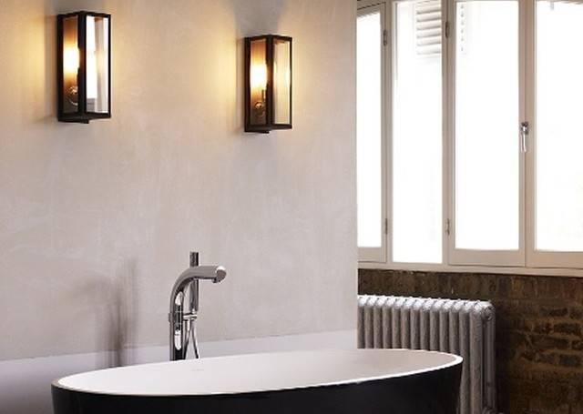 Светильники для ванной комнаты - фото, расположение и типы