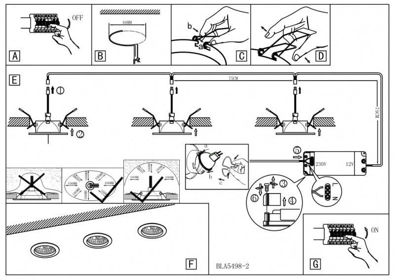 Как правильно установить светильники в натяжной потолок