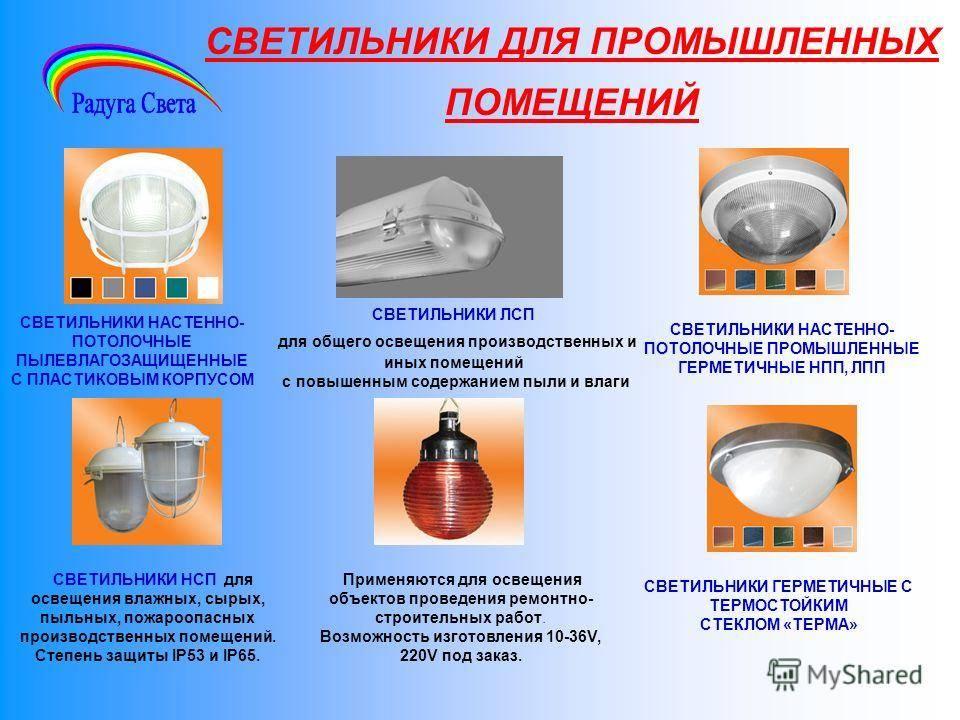 Виды современных осветительных приборов. основная и дополнительная классификация световых приборов