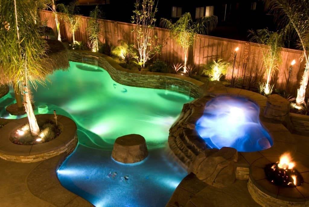Освещение бассейна: описание, правила выбора светильников.