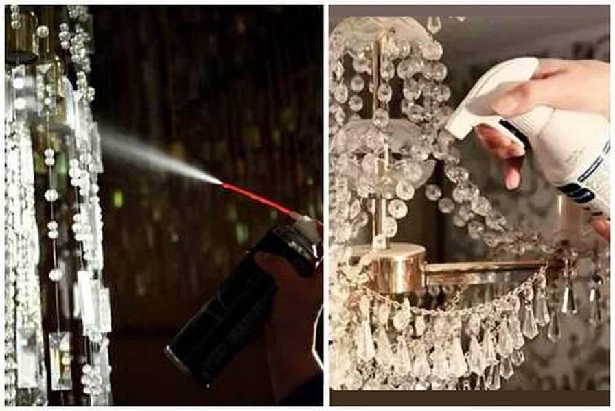 Как помыть хрустальную люстру, средство для мытья, как помыть люстру с подвесками и висюльками, не снимая