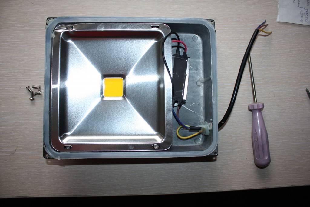 Простой светодиодный прожектор своими руками