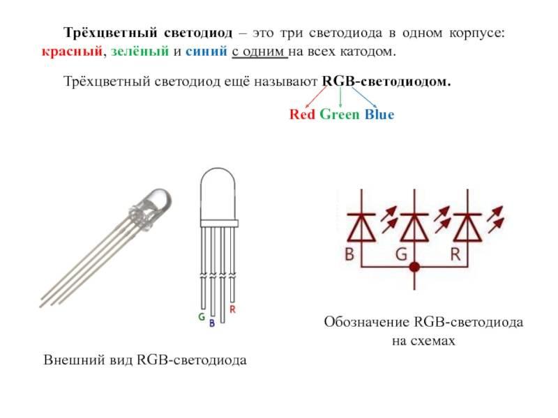 Характеристика rgb светодиода