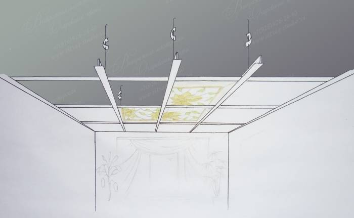 Монтаж светильников в натяжные потолки своими руками