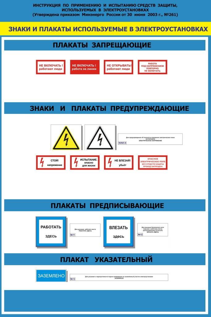 Где на предприятии нужно размещать знаки по электробезопасности
