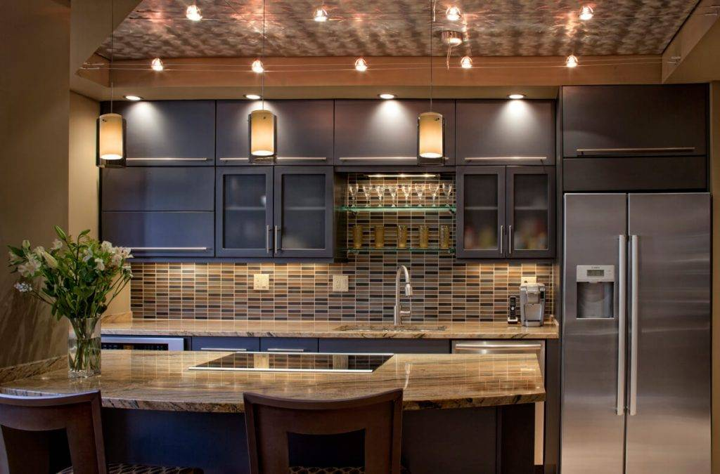 Освещение на кухне: правильная организация подсветки рабочей зоны и варианты освещения (125 фото)