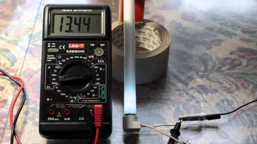 Как проверить лампу мультиметром - multimetri.ru