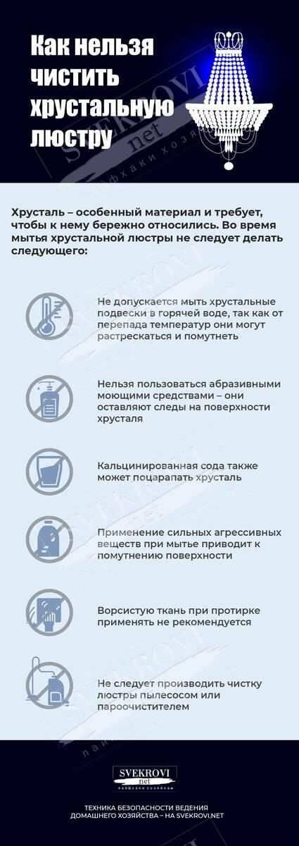 Как помыть люстру с подвесками не снимая с потолка