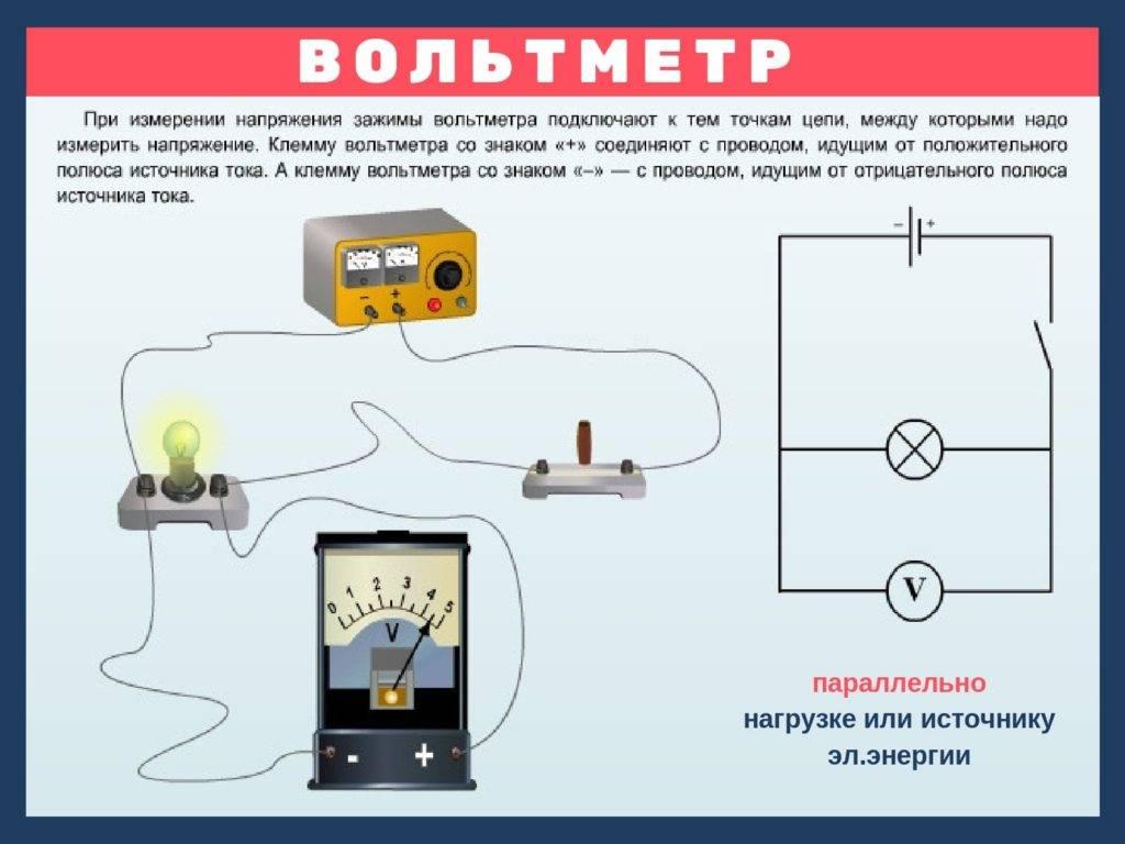 Как подключить вольтметр амперметр