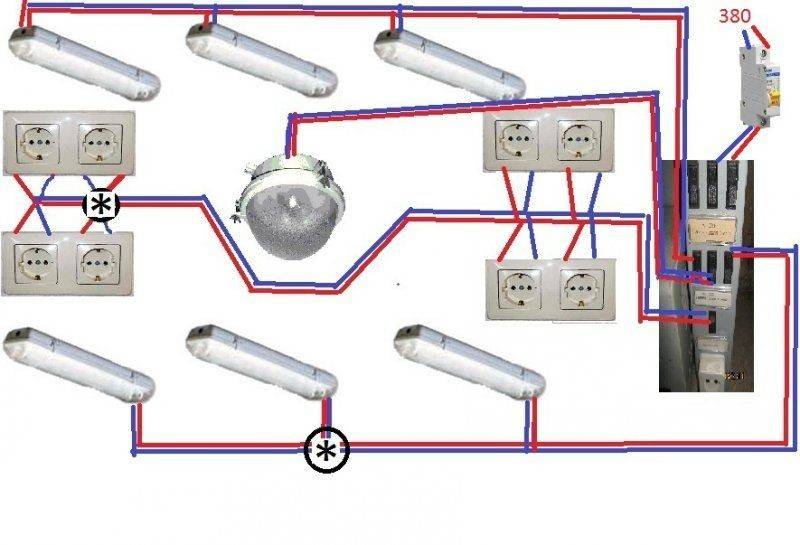 Схема электропроводки в гараже: идеи для самостоятельной прокладки однофазной сети (120 фото)