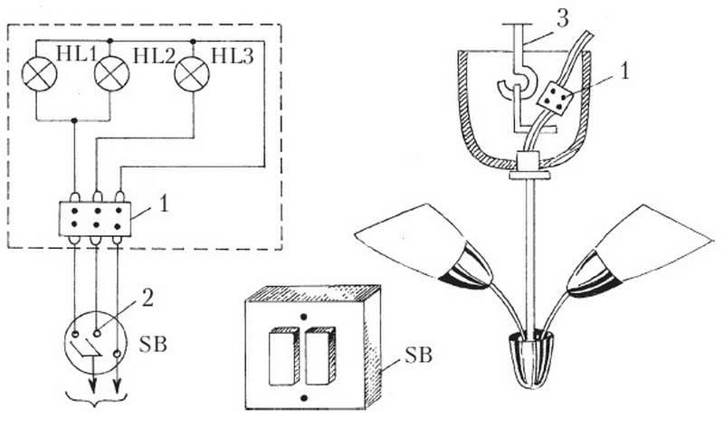 Как правильно подключить бра с выключателем шнурком