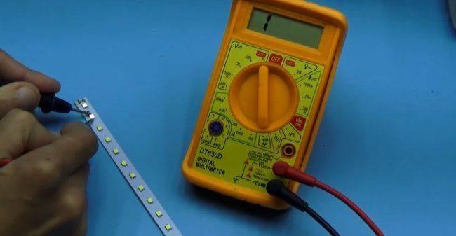 Как проверить светодиод мультиметром