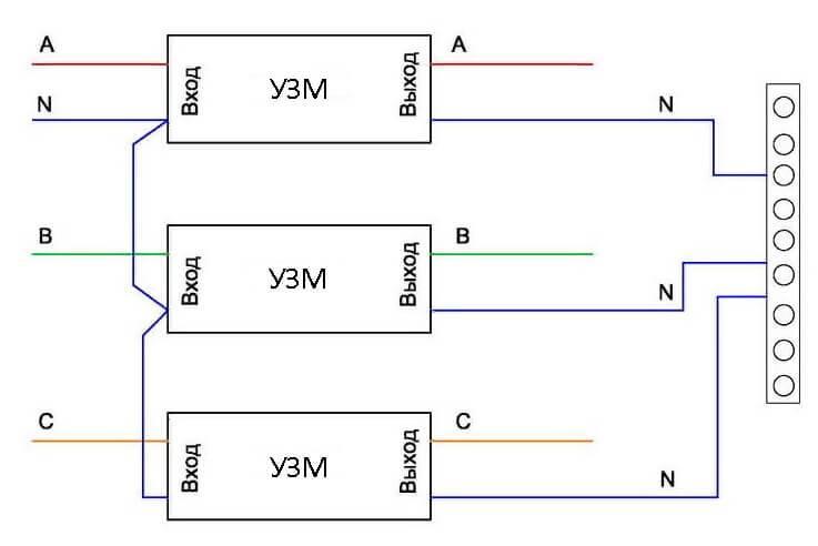Узм-51м (16м, 50м, узм-3-63): назначение, подключение в однофазную и трехфазную сеть