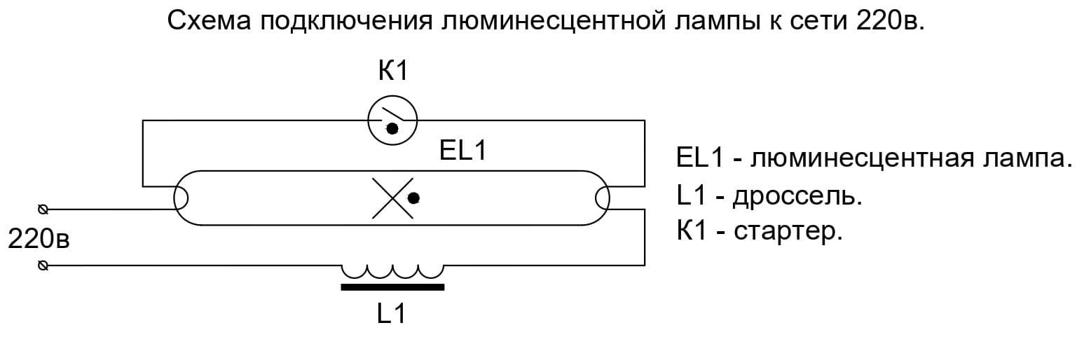 Схема подключения люминесцентных ламп с дросселем: пошаговая инструкция
