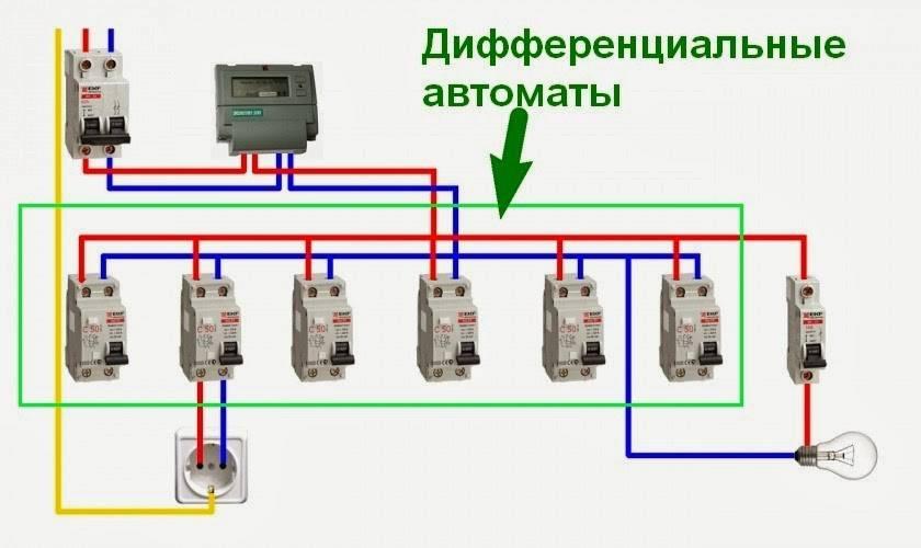 Схема подключения узо в однофазную сеть без заземления