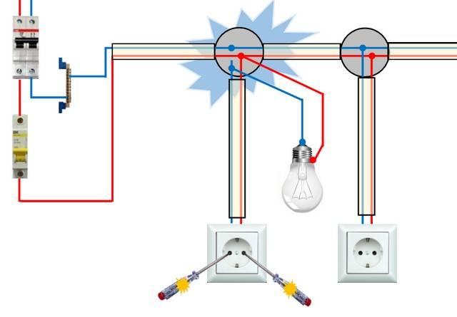 Как подключить лампочку через выключатель: схемы и правила подключения