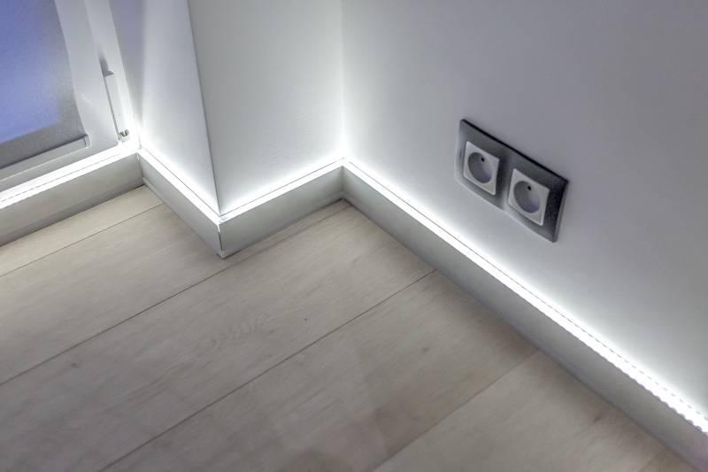 Напольное освещение: как сделать ночную подсветку?