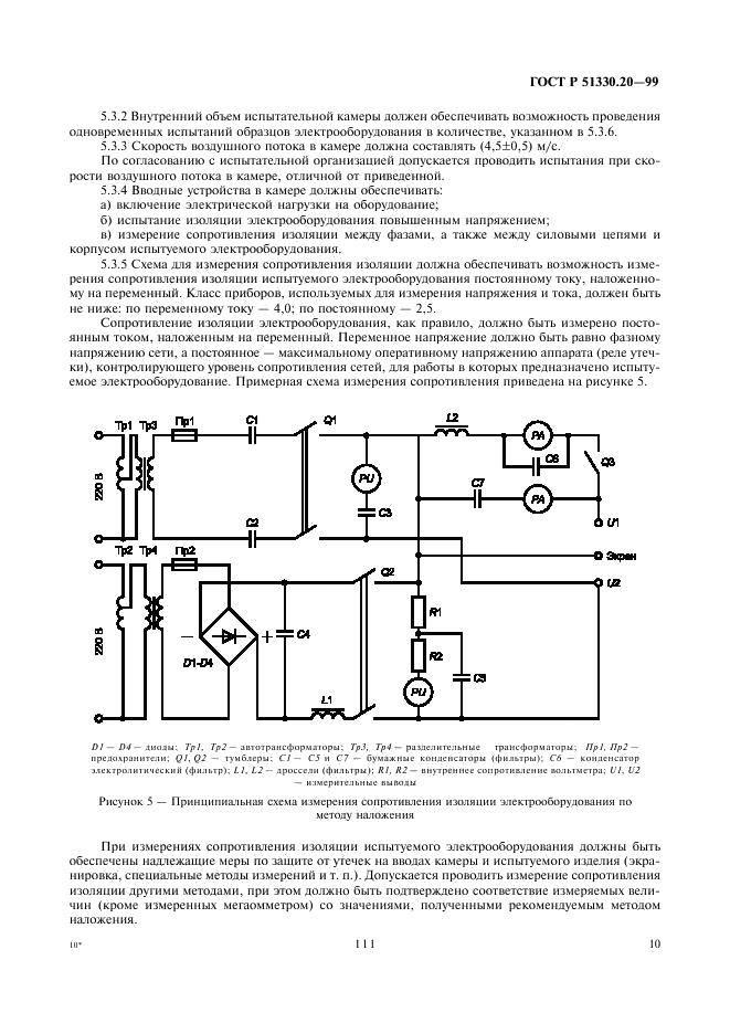 Акт измерения сопротивления изоляции электропроводок
