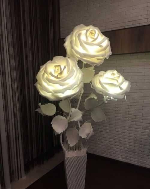Светильник роза своими руками — пошаговые инструкции создания светильника своими руками + оригинальные идеи оформления с фото-обзорами