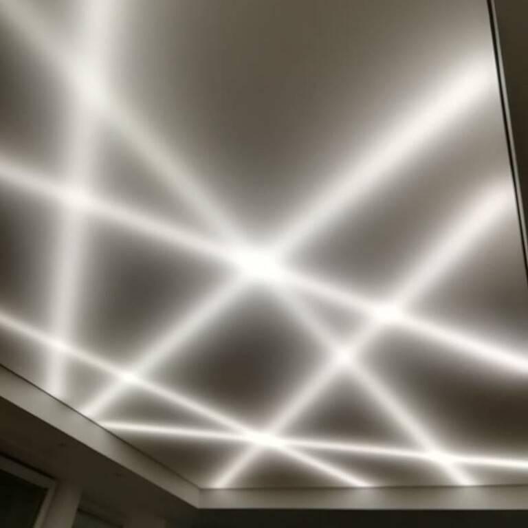 Натяжной потолок с подсветкой по периметру - варианты, способы монтажа!