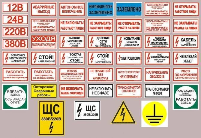 Знаки и плакаты по электробезопасности - все про электрику