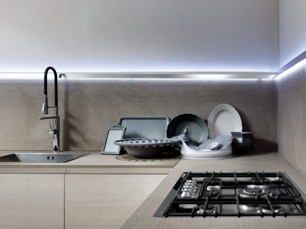 Подсветка для кухни под шкафы светодиодная, разновидности ламп