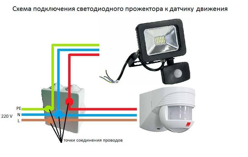 Датчик движения для включения света: устройство + принцип работы