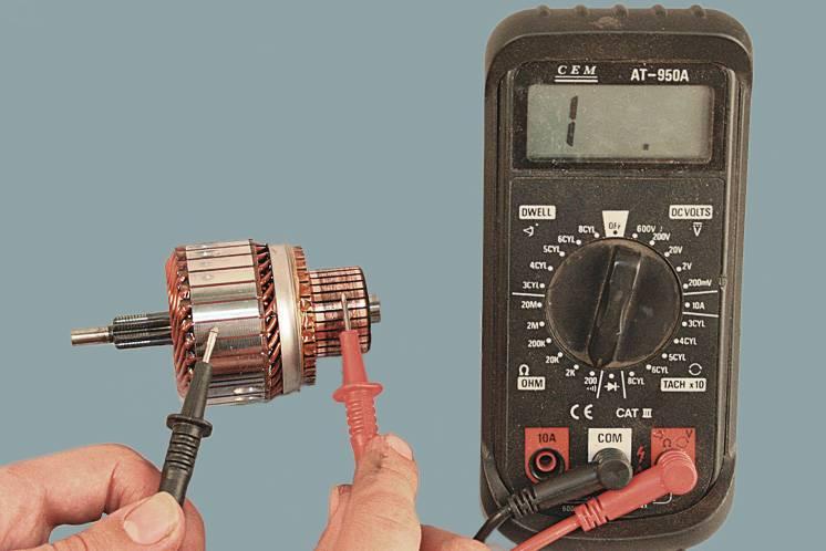 Как проверить двигатель мультиметром