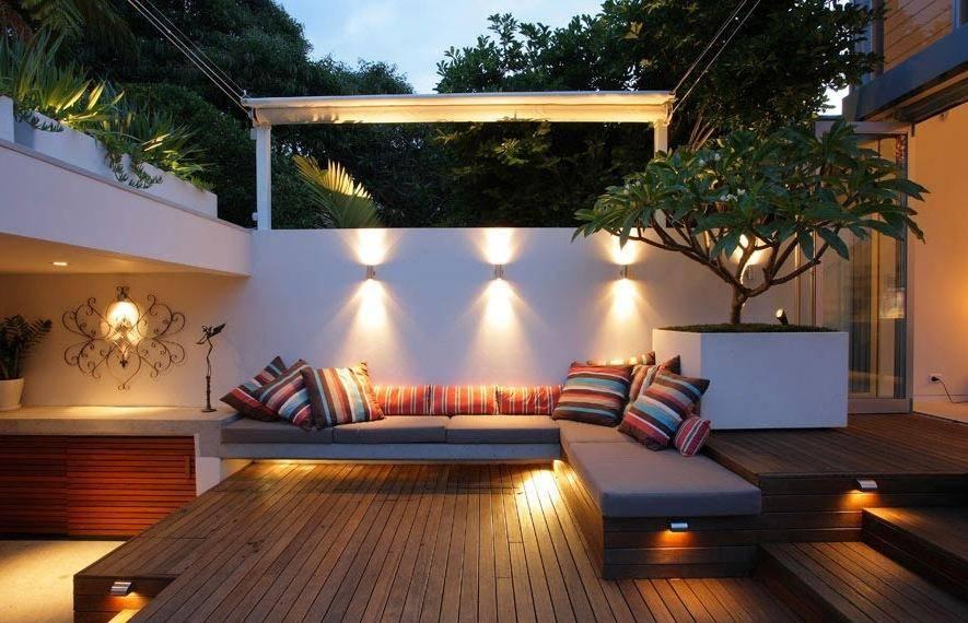 Освещение террасы на даче