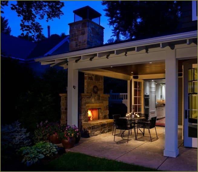 Освещение террасы или деревянной веранды загородного дома или на даче: подсветка, декоративный свет и другие виды, выбор светильников и монтаж освещения своими руками